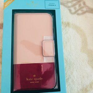 Kate spade Folio iPhone X case